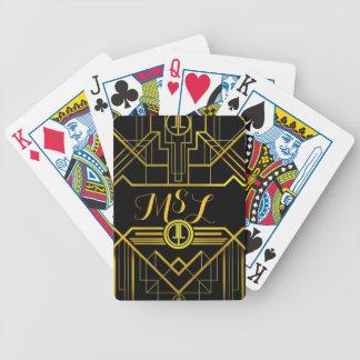 Grandes cartes de jeu de monogramme de Gatsby Jeu De Cartes