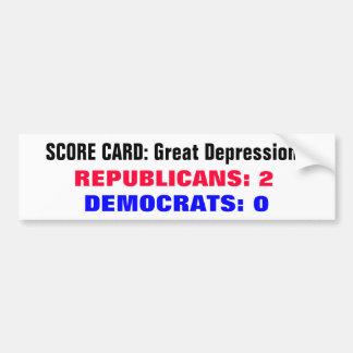 Grandes Dépressions de carte de score Autocollant De Voiture