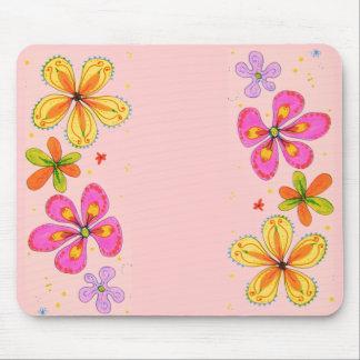 Grandes fleurs Mousepad artistique Tapis De Souris