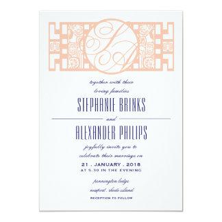 Grandes invitations de mariage d'orchidée d'art