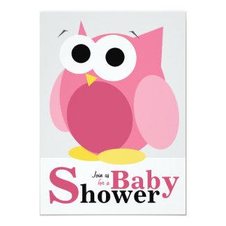Grandes invitations roses drôles de baby shower de