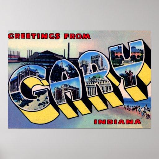 Grandes salutations de lettre de Gary Indiana Posters
