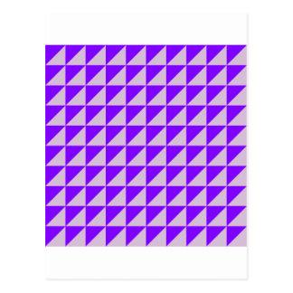 Grandes triangles - chardon et violette carte postale