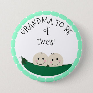 Grandm à être des jumeaux dans le bouton de baby badge