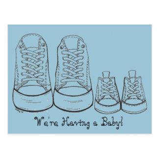 Grands baskets - petites annonces de bébé de cartes postales