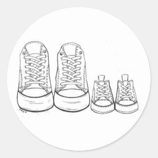 Grands baskets - petits autocollants de baskets
