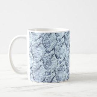 grands câbles tricotés Bleu-gris Mug