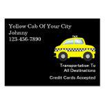 Grands cartes de visite de taxi cartes de visite personnelles
