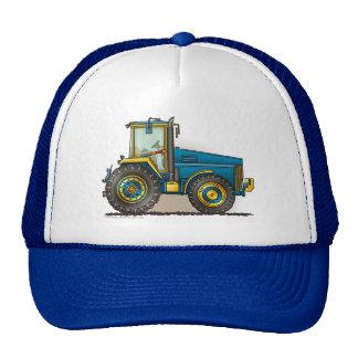 Grands chapeaux bleus de tracteur casquettes de camionneur