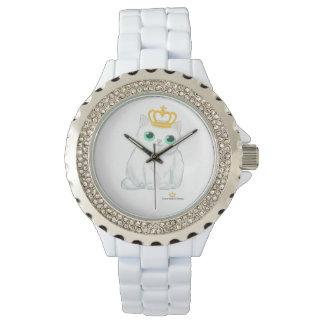 Grands chatons britanniques - montre d'émail de montres bracelet