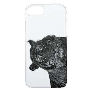 Grands chats d'espèce menacée sauvage de tigre coque iPhone 7