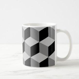 Grands noir et gris de motif de cube mug