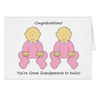 Grands-parents de félicitations pour jumeler des carte de vœux