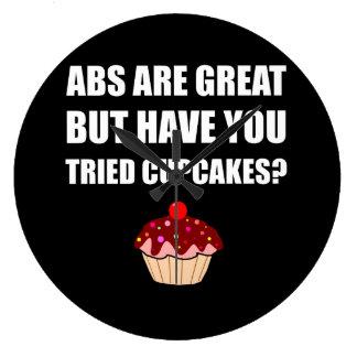 Grands petits gâteaux éprouvés d'ABS Grande Horloge Ronde