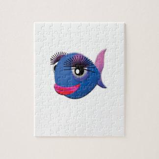 grands poissons bleus de lèvres puzzle