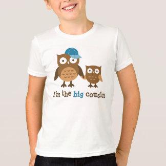 Grands T-shirts de hibou de cousin pour des