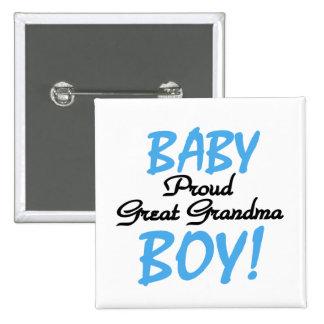 Grands T-shirts et cadeaux fiers de bébé de grand- Badge Carré 5 Cm