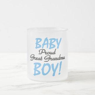 Grands T-shirts et cadeaux fiers de bébé de grand- Mug En Verre Givré