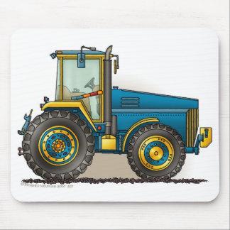 Grands tapis de souris bleus de tracteur