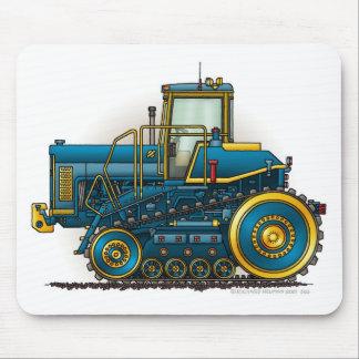 Grands tapis de souris bleus de tracteur de bouteu