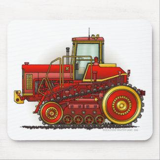 Grands tapis de souris rouges de tracteur de boute