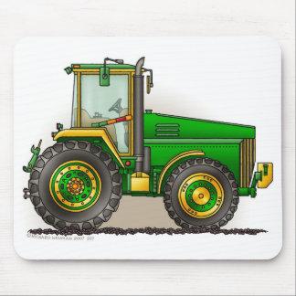 Grands tapis de souris verts de tracteur