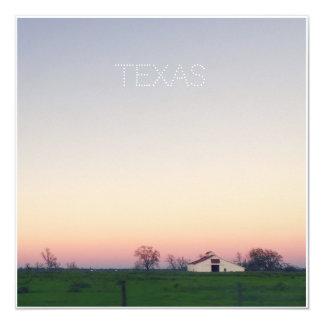 Grange du Texas au coucher du soleil Carton D'invitation 13,33 Cm