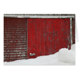 Grange en hiver cartes