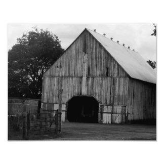 Grange en noir et blanc tirages photo