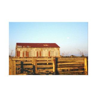 Grange et corral du Texas Toile