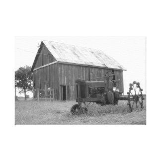 Grange et tracteur du Texas Toile