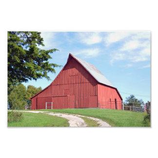 Grange rouge du Kansas Impression Photo