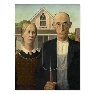Grant Wood - gothique américain Cartes Postales