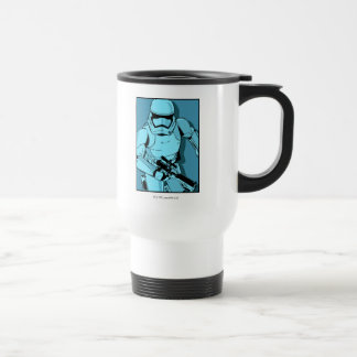 Graphique bleu brutal mug de voyage en acier inoxydable