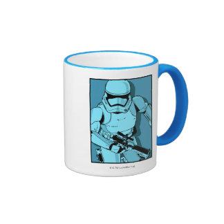 Graphique bleu brutal mug ringer