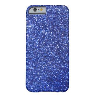 Graphique bleu-foncé de parties scintillantes de coque barely there iPhone 6