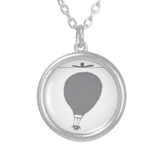 Graphique chaud simple de ballon à air pendentif rond
