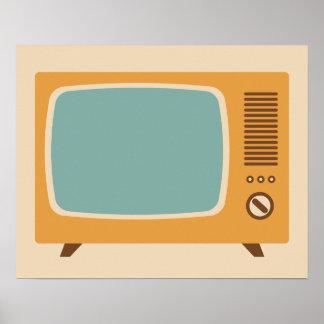 Graphique classique de téléviseur affiche