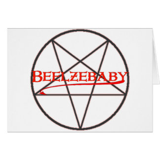 Graphique de Beelzebaby Carte De Vœux