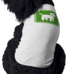 Graphique de caniche (vert) t-shirts pour animaux domestiques