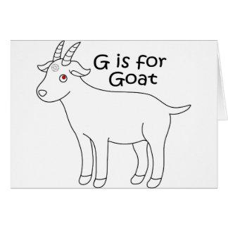 graphique de chèvre de bébé carte de vœux