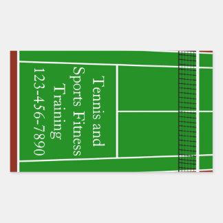Graphique de disposition de court de tennis sticker rectangulaire