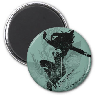 Graphique de feuillage d'atterrissage de femme de magnet rond 8 cm