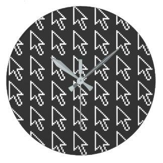 Graphique de flèche de curseur de souris grande horloge ronde