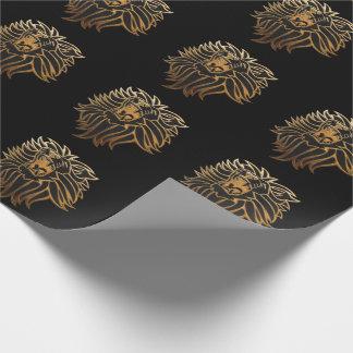 Graphique de lion d'hurlement papier cadeau