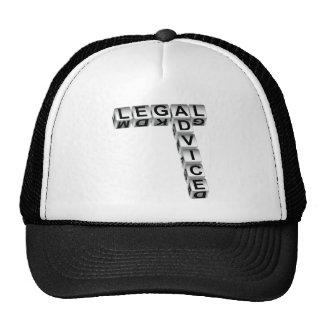 Graphique de matrices d'avis juridique casquette