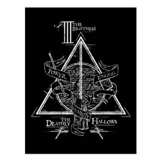 Graphique DE MORT de HALLOWS™ Cartes Postales