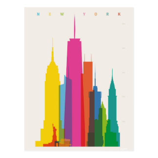 Graphique de New York City Carte Postale