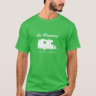 Graphique de silhouette de la remorque rv de t-shirt