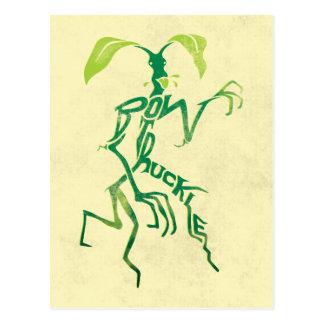 Graphique de typographie de Bowtruckle Carte Postale